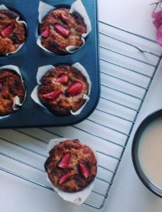 Strawberry Breakfast Muffins