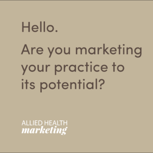 allied health marketing